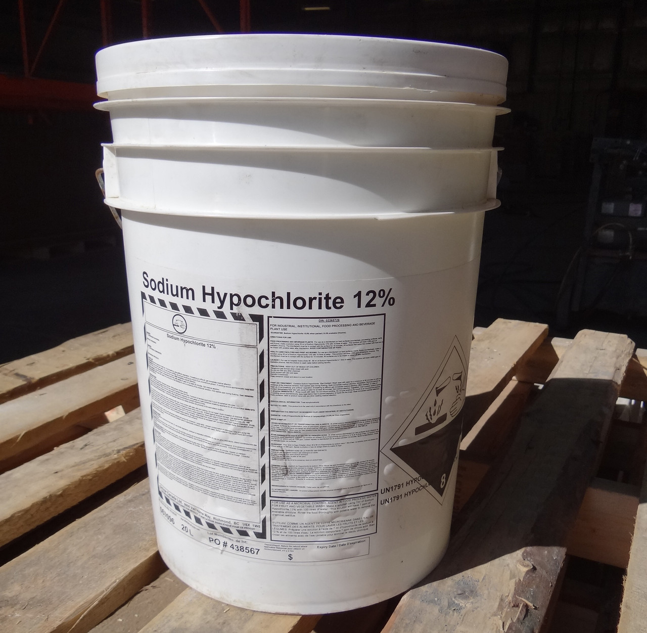 Dodge Packaging 187 Sodium Hypochlorite 12 Industrial