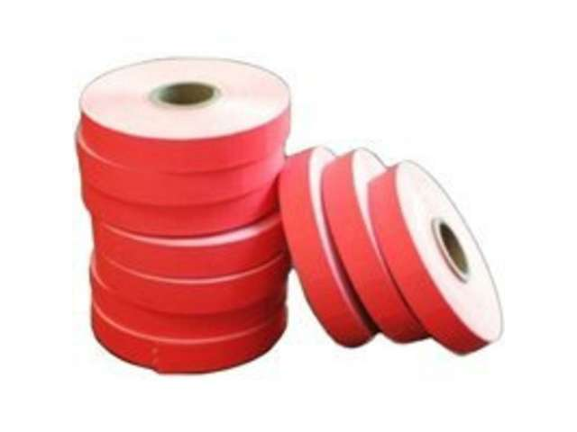 Dodge Packaging 187 Blank Red Glo Labels Roll Of 17000