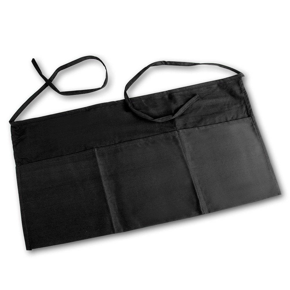 White half apron - Small 3 Pocket Waist Apron