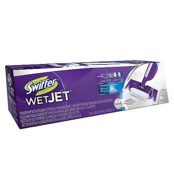 Dodge Packaging 187 Swiffer Wet Jet Mopping Kit Mop 5 Pads